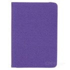 360 Degree Rotating Grid Pattern PU Leather + TPU Case w/ Stand for IPAD MINI - Purple