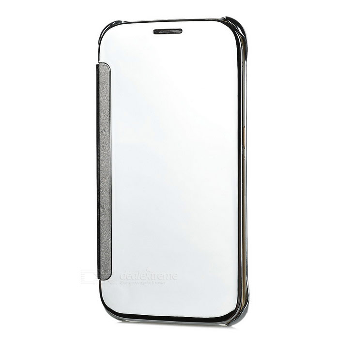 Protective Mirror Cover PU Case for Samsung Galaxy S6 - SilverLeather Cases<br>Form ColorSilverModelN/AMaterialPUQuantity1 DX.PCM.Model.AttributeModel.UnitShade Of ColorSilverCompatible ModelsSamsung Galaxy S6Packing List1 x Case<br>