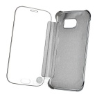 Protective Mirror Cover PU Case for Samsung Galaxy S6 - Silver