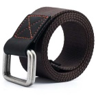 Webbing Quick-Dry Belt w/ Dual Ring Buckle - Coffee (110cm)