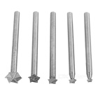 Milling Cutter w/ Star End / Carpenter Carving Tool Set (5PCS)