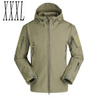 Men's Outdoor Military Tactical Water-resistant Windproof Jacket Coat - Army Green (3XL)