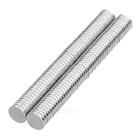 Strong Magnetic NdFeB Magnets - Silver (10*2mm / 100PCS)
