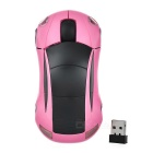Car Shaped 2.4GHz 800dpi Wireless Mouse - Pink