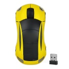Car Shaped 2.4GHz 800dpi Wireless Mouse - Yellow