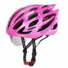 SAHOO Outdoor Cycling Cool Bike Safety Helmet w/ Goggles - Pink