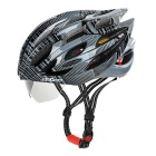 SAHOO Outdoor Cycling Cool Bike Safety Helmet w/ Goggles - Black