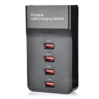 4-Port USB 2.0 Charging Station - Black (US Plugs)