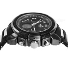 HPOLW menns vanntett harpiks kvarts sports watch - svart (1 * CR2025)