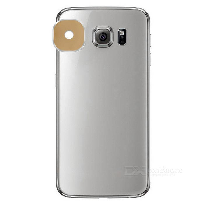 Reusable Camera Lens Protector Sticker for Samsung S6 Edge - Champagne