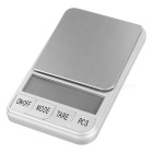 "KL-15 2.5"" Screen Mini Digital Jewelry Balance Scale - Silver (300g / 0.01g / 2 x AAA)"