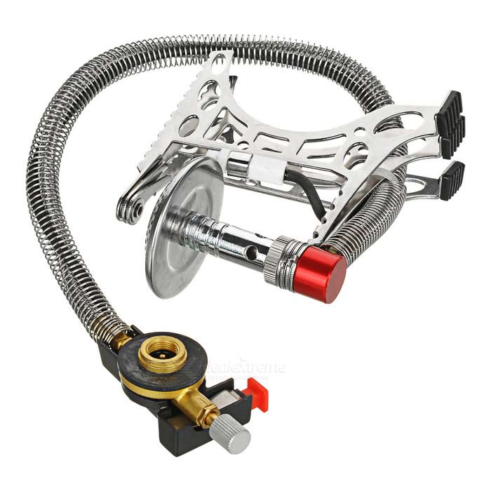 Resolutes Split-Type Outdoor Camping Gas Stove Burner - Silver