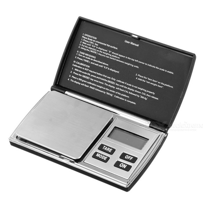 "KL-08 1.5"" LCD Pocket Digital Balance Scale (1000g / 0.1g / 2*AAA)"
