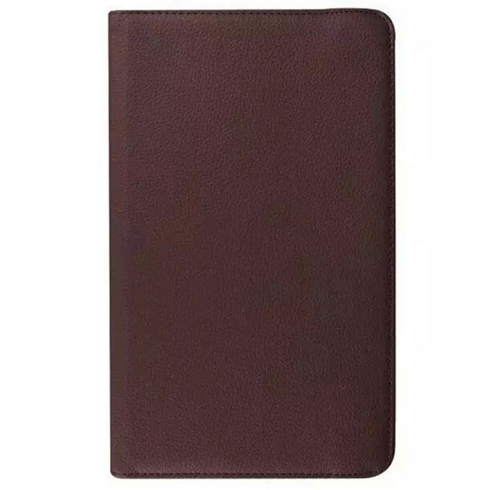 Rotary Lichee Pattern PU Case for Samsung Galaxy Tab E - Brown