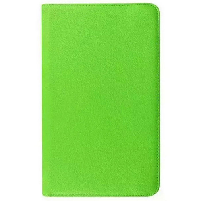 Rotary Lichee Pattern PU Case for Samsung Galaxy Tab E - Green