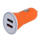 2.1A Double Ports USB Universal Quick Car Charger Adapter - Orange (12~24V)