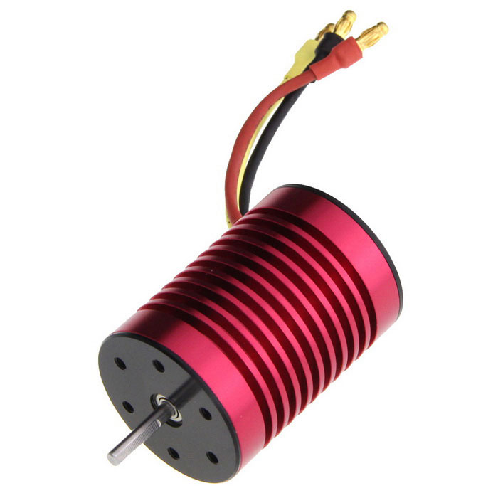 Sensorless 13T Brushless 3300KV coche Motor - rojo + amarillo + Multicolor