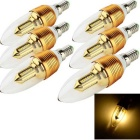 YouOKLight E14 3W 300lm 3000K 32-SMD LED Warm White Candle Bulb (6PCS)