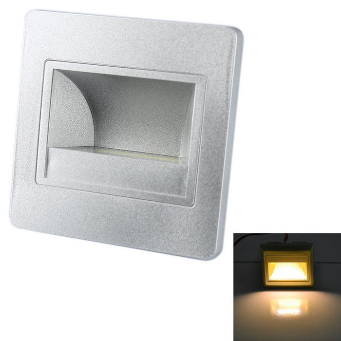 JIAWEN 1.5W COB Night Light / Corner / Stair Lamp Warm White 120lmLED Nightlights<br>MaterialPC +  Flame retardant materialForm  ColorOthers,Space silverQuantity1 DX.PCM.Model.AttributeModel.UnitPowerOthers,1.5WRated VoltageOthers,AC 100-265 DX.PCM.Model.AttributeModel.UnitConnector TypeOthers,wiringColor BINWarm WhiteChip BrandOthers,N/AEmitter TypeCOBTotal Emitters1Theoretical Lumens80-120 DX.PCM.Model.AttributeModel.UnitActual Lumens80-120 DX.PCM.Model.AttributeModel.UnitColor Temperature12000K,Others,3000-3200KDimmableNoBeam Angle90 DX.PCM.Model.AttributeModel.UnitInstallation TypeWall MountPacking List1 x LED lamp1 x Holder4 x Nuts<br>