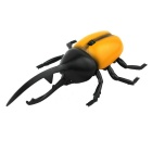 Simulation 4-CH Remote Control Toy Beetle - Orange + Black