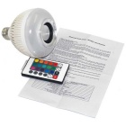 Smart Bluetooth V3.0 E27 LED Music Light Bulb Sound Box Speaker White