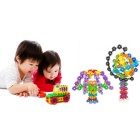 Mixed Color Plastic Snowflake Building Blocks - Multi-Colored (100PCS)