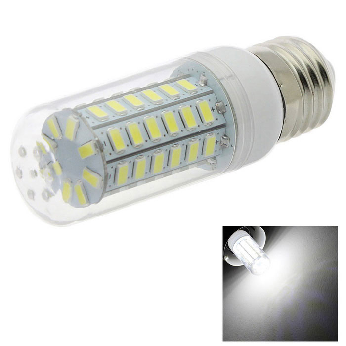 HONSCO E27 5W LED Clear Cover Corn Light Bulb Cold White 6500K 56-SMD