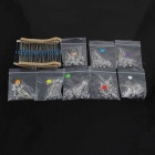 DIY 8 Colors LED + 1/4W 200ohms 100PCS Resistance Metal Film Resistor