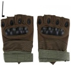 Outdoor Sports Cycling Hunting Military Tactical Anti-Slip Half-Finger Gloves - Army Green (L/Pair)