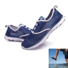 Breathable Mesh Amphibious Sports Shoes 44 - Dark Blue (Pair / US Size 10)