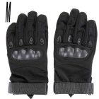OutdoorTactical/RacingAnti-SlipAnti-CutsFull-FingerGloves-Black(SizeM/Pair)