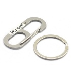 Jtron Lucky Number 6 Stainless Steel Keychain - Silver