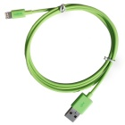 CARVE MFi  8Pin Lightning Male to USB 2.0 Male Data Cable for IPHONE 6 / IPAD / IPOD - Green (100cm)