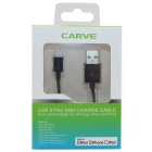 CARVE 8Pin Lightning M to USB2.0 M Data Cable for IPHONE6 - Black (1m)