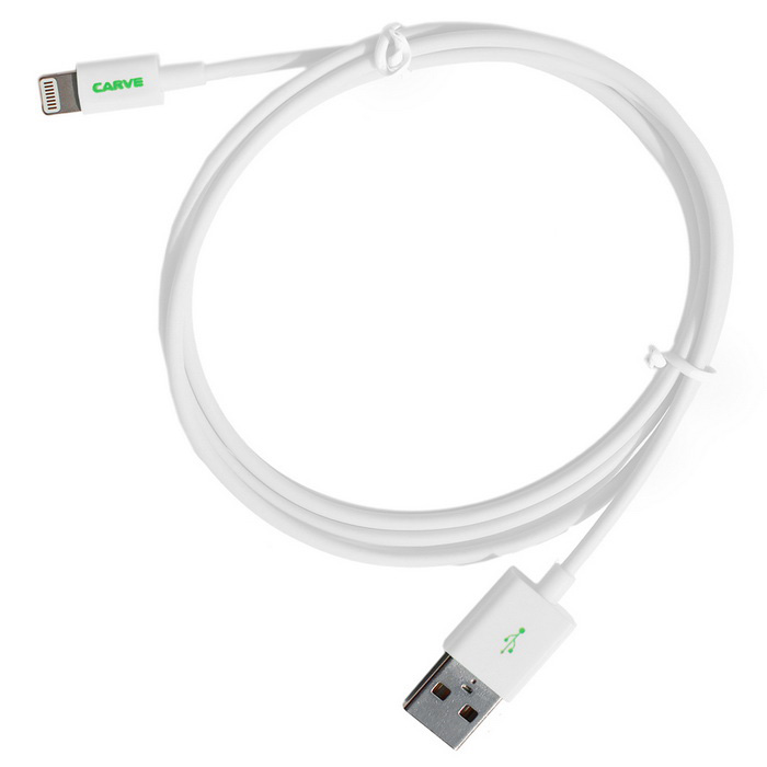 CARVE 8Pin Lightning M to USB2.0 M Data Cable for IPHONE6 - White (1m)