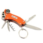 JtronStainlessSteelMulti-PurposePocketknife+BottleOpenerOutdoorMiniTool-Оранжевый+Серебро
