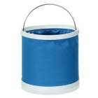 9L Portable Outdoor Camping / Hiking / Travel Car Folding Bucket - Blue