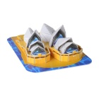 DIY 3D Puzzle Sydney Opera House Toy - Blue + Yellow