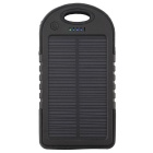 5000mAhSolarPoweredPowerBankforSmartphones/Tablets/GPS/DigitalCameras+More-Black