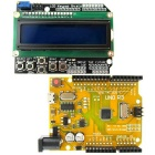 Micro USB UNO R3 ATmega328P Development Board + LCD 1602 Keypad Shield Kit for Arduino - Yellow