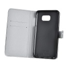 PU Case w/ Card Slots / Stand for Samsung Note 5 - Black + White