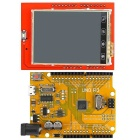 "2.4"" TFT LCD Touch Screen Shield + Golden UNO R3 ATmega328P Improved Development Board for Arduino"