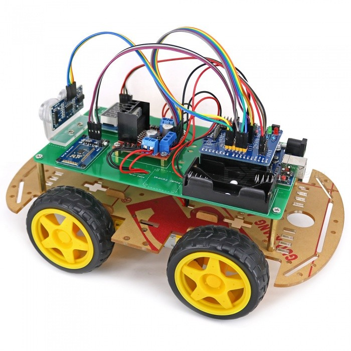 Wd bluetooth controlled smart robot car kit for arduino
