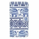 Elephant Pattern Protective PU Full Body Case Cover w/ Stand & Card Slots for Samsung Galaxy Note 5
