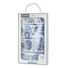 Elephant Pattern PU Case w/ Stand, Card Slots for Samsung Note5 - Blue