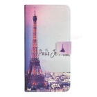 Eiffel Tower Pattern PU Case w/ Stand for Samsung Note 5 - Multicolor