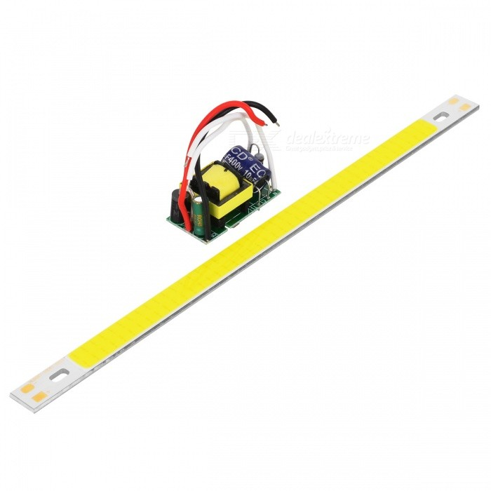 200*10mm 10W 700lm 88-COB Cold White LED Module w/ High Voltage Driver