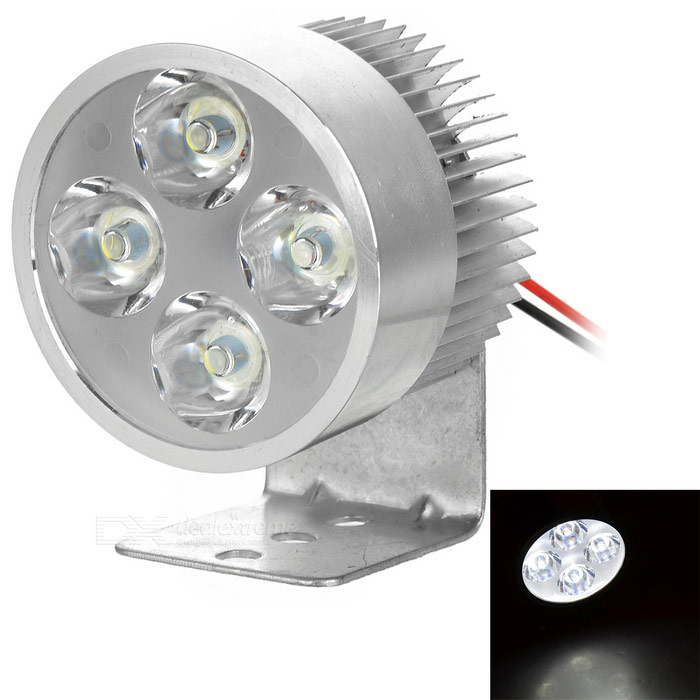 3W Universal 4-LED 280lm 7000K Lamp for Motorcycle / Electromobile