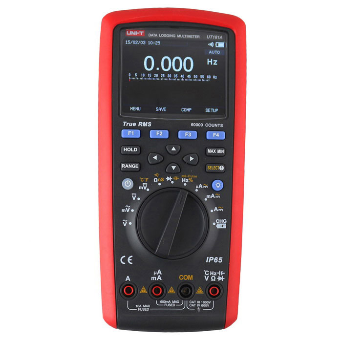 UNI-T UT181A True RMS Datalogging Multimeter - Red + Gray