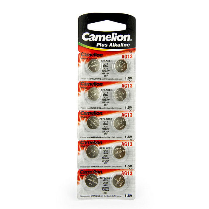 Camelion AG13-BP10 1.5V AG13 Alkaline Button Batteries (10 PCS)